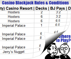 blackjack casino rules and conditions