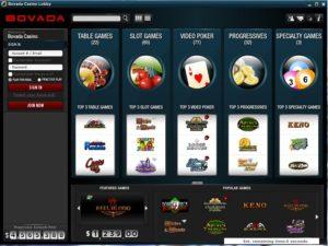 Bovada Casino Lobby
