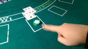 hitting in blackjack