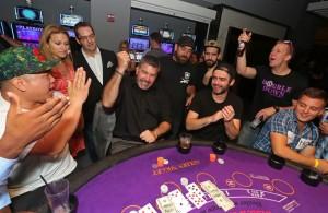 Don Johnson at the blackjack table