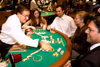 blackjack table in Las Vegas