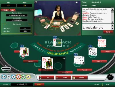 Live Dealer 1st. Gen Game