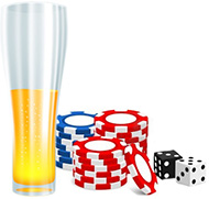 Drink and casino chips
