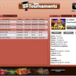 Casino Extreme slot tournament scoreboard